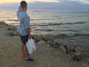 Закат в Албании. На море, Дуррес