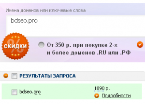 Зарегистрировать домен .pro недорого