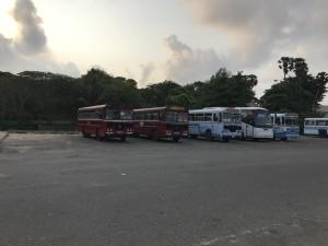 Автобусы на Шри Ланке. Фото в Галле