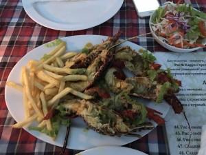 Фото лобстера в ресторане на Шри Ланке