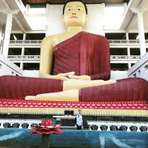Weherahena Buddhist Temple. Храм Будды, Шри Ланка