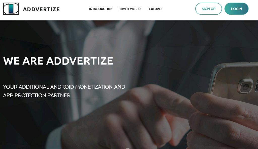 Партнерская программа для заработка на приложениях android addvertize