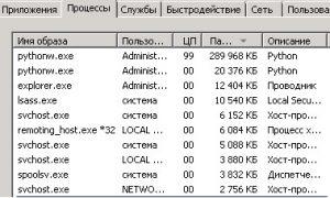 Загрузка процессора при обработке большого файла (через python)