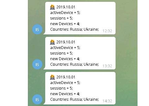 Telegram бот для уведомлений от flurry sdk пример