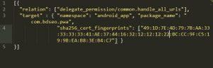 Как сделать Digital Assets Links на сайте и android приложении
