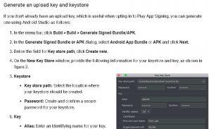 Инструкция от гугл как сгенерировать новый ключ для подписи приложения на android