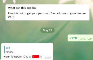 Как узнать свой id телеграм